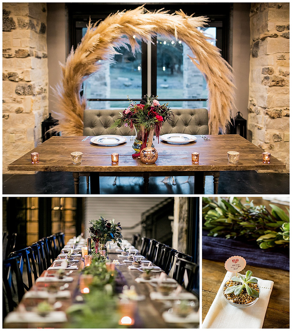 Park 31 Wedding | Wedding Planner | Wedding Details | Bridal Party | San Antonio Wedding Planner | Hill Country Wedding Planner | Luxury Event Planner | Wedding Reception | Pampas Grass | Wedding Favors