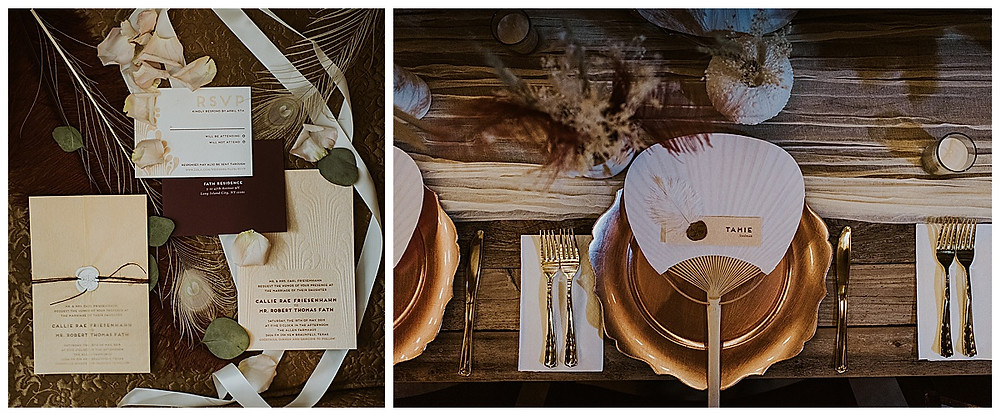 The Allen Farmhaus | New Braunfels Wedding | New Braunfels Wedding Planner | Boerne Wedding Planner | San Antonio Wedding Planner | Hill Country Wedding | Invitation Suite | Place Setting