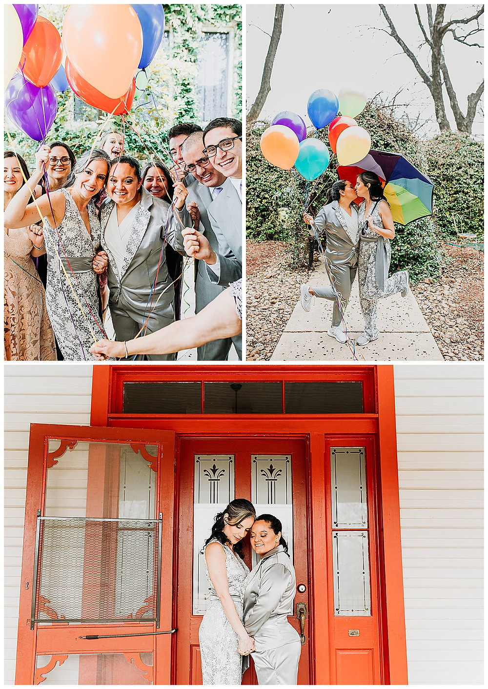 Lesbian Wedding | Boerne Wedding | Boerne Wedding Planner | Same Sex Wedding | Spinelli's Venue | Two Brides | Rainbow