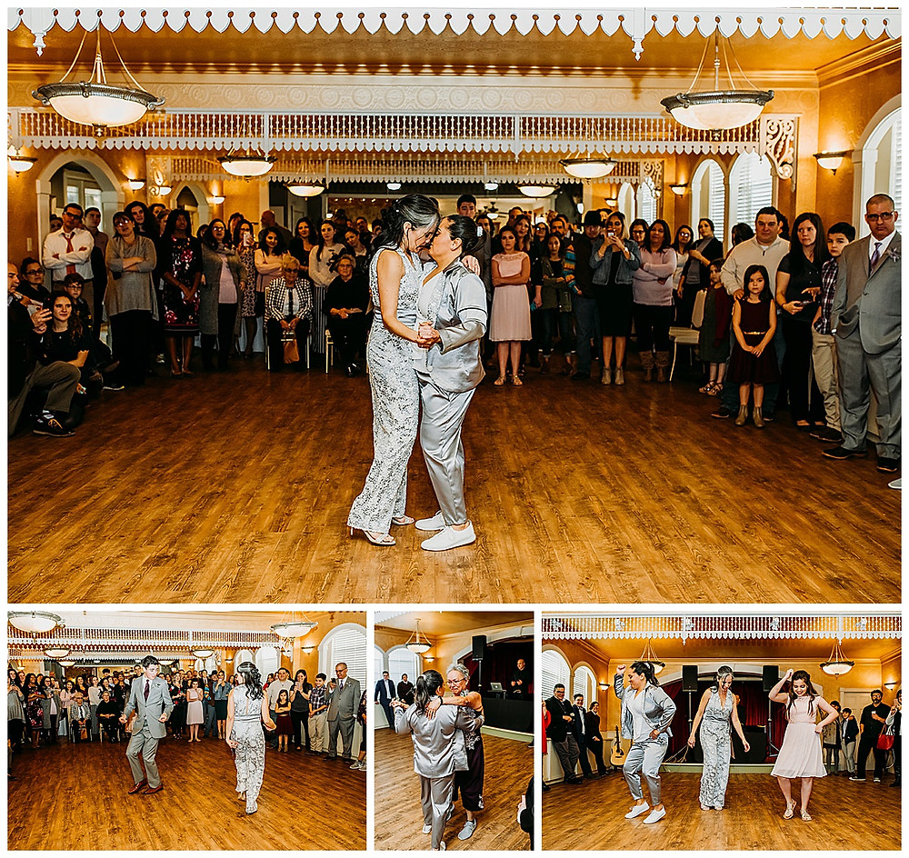 Lesbian Wedding | Boerne Wedding | Boerne Wedding Planner | Same Sex Wedding | Spinelli's Venue | Wedding Reception | Two Brides | First Dance