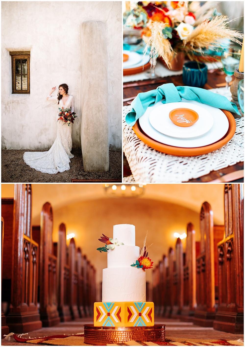 snap chic photography, southwest styled shoot, Texas hill country wedding photographer, Boerne Texas weddings, Wedding Cake