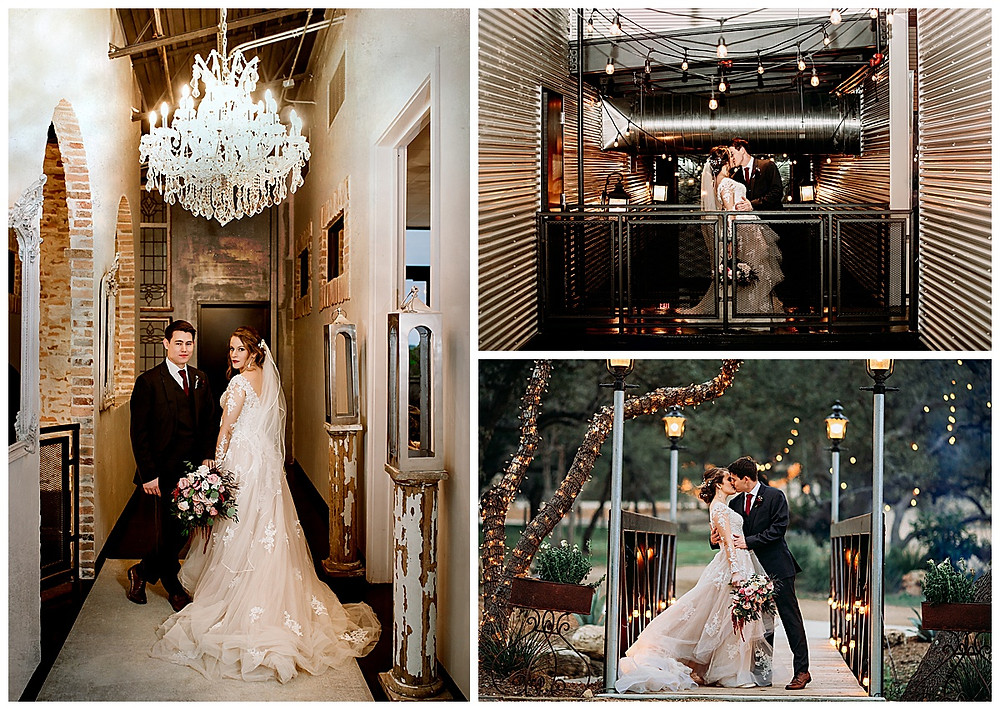 Park 31 Wedding | Spring Branch | Winter Wedding | Hill Country Wedding Planner | San Antonio Wedding Planner | Boerne Wedding Planner | Burgundy Bridal Bouquet | Wedding Ceremony | Winter Wedding Colors | Park 31 Reception | Bride and Groom Portrait
