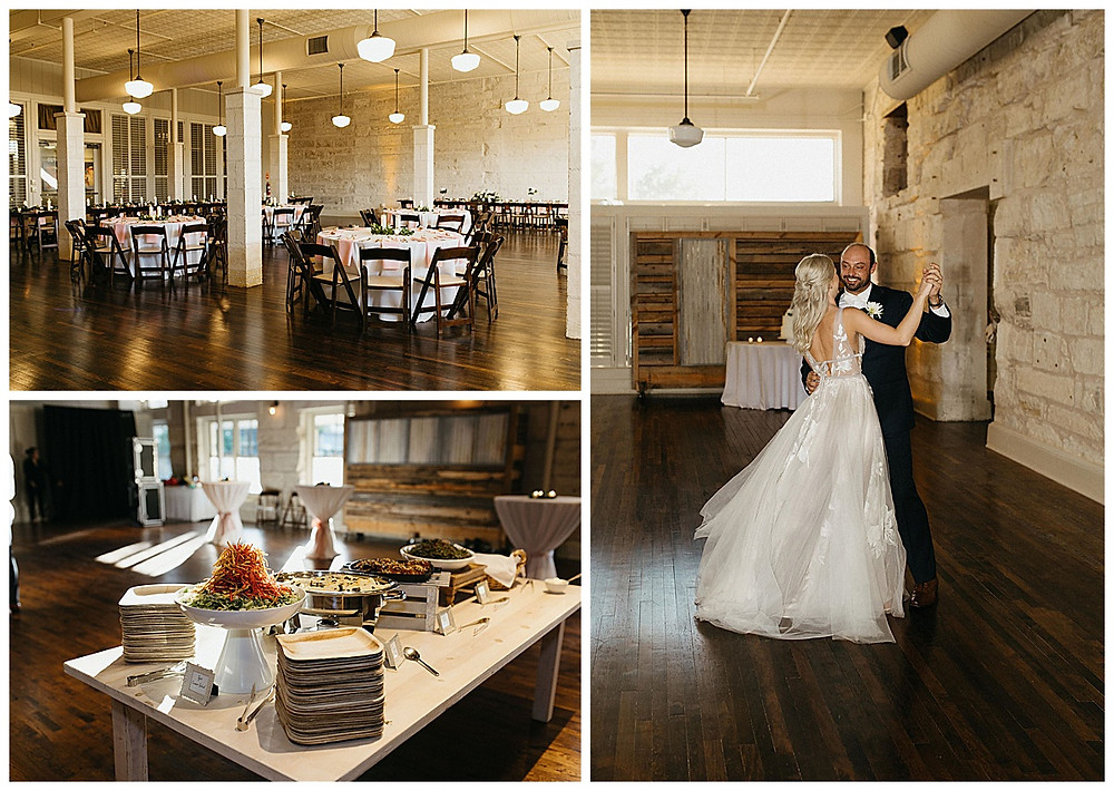 Wedding Reception | Cartewheels Catering | Events at Water St Wedding | Kerrville Wedding | Schreiner Mansion Wedding | Kerrville Wedding Planner | First Dance | San Antonio Wedding Planner