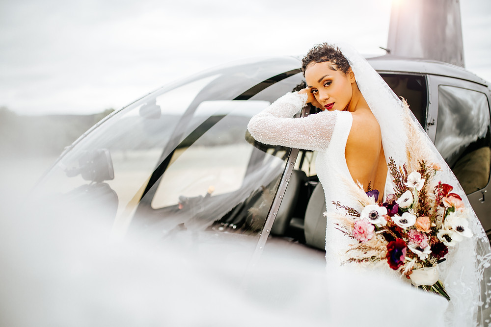 Wedding Helicopter | Snap Chic Photography