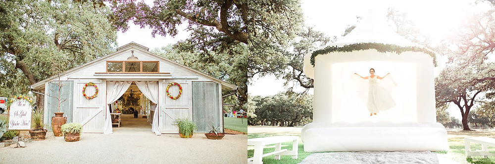The Oaks at Boerne | Snap Chic Photography | Boerne Wedding Photographer | San Antonio Wedding Photographer | Boerne Photographer | White Wedding Bounce Castle