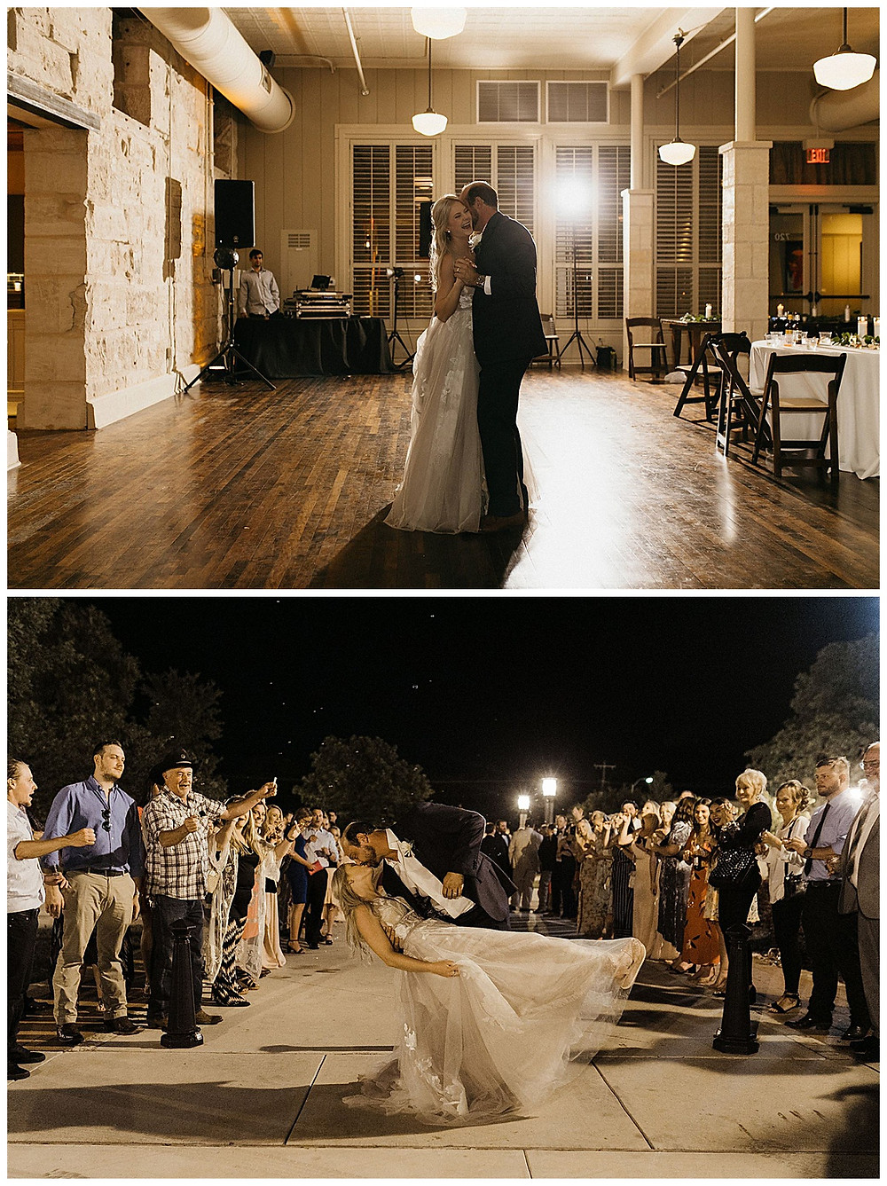 Wedding Reception | Downtown Kerrville Wedding | Events at Water St Wedding | Kerrville Wedding | Schreiner Mansion Wedding | Kerrville Wedding Planner | Bride and Groom | San Antonio Wedding Planner
