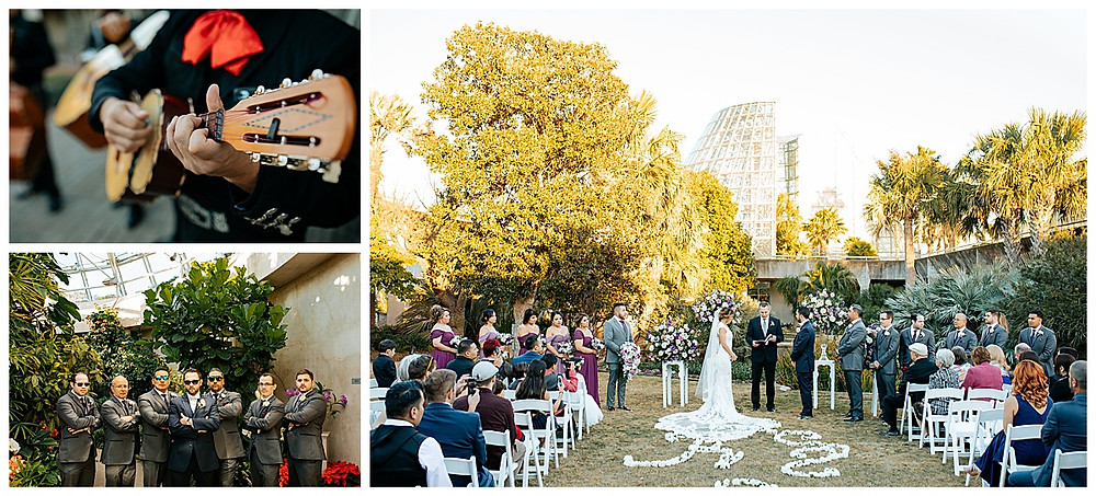 San Antonio Botanical Garden | Rosenberg Skyroom | San Antonio Wedding | Winter Wedding | San Antonio Wedding Planner | Boerne Wedding Planner | Hill Country Wedding | Mariachi