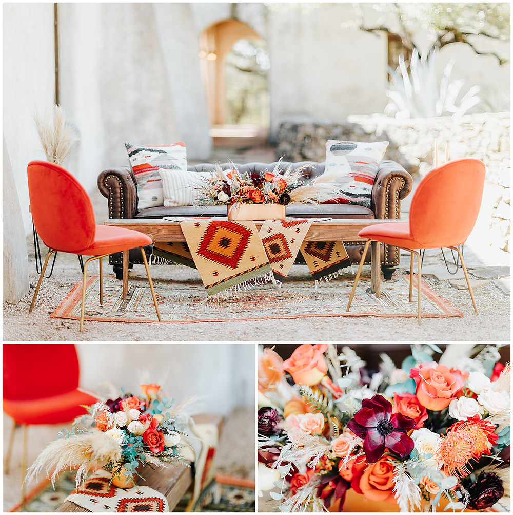 snap chic photography, southwest styled shoot, Texas hill country wedding photographer, Boerne Texas weddings, Table Scape