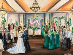 Live Wedding Painter, San Antonio Texas. Snap Chic Wedding Painting, Laura Herndon Artist