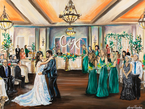 Live Wedding Painter, San Antonio Texas. Snap Chic Wedding Painting, Laura Herndon Artist
