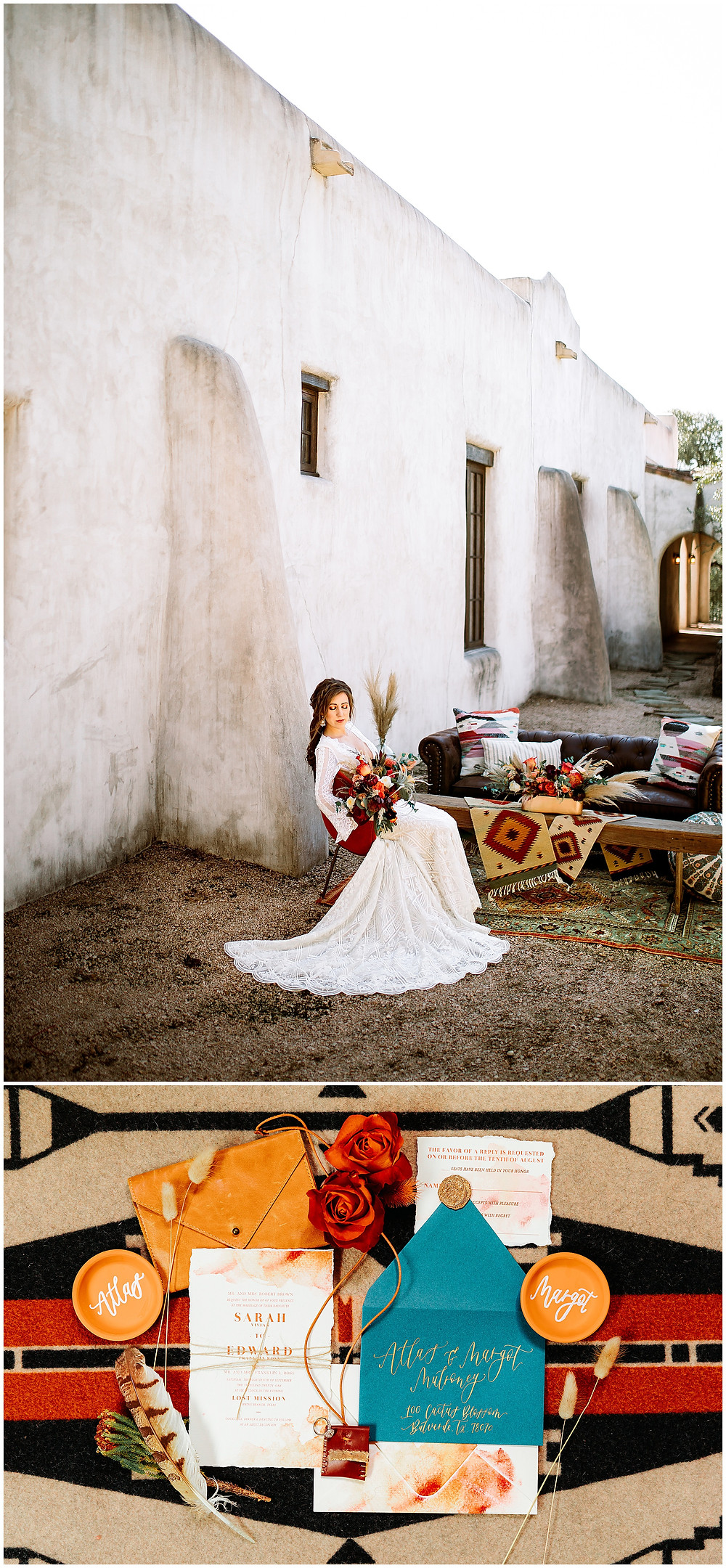 snap chic photography, southwest styled shoot, Texas hill country wedding photographer, Boerne Texas weddings, Flat Lay