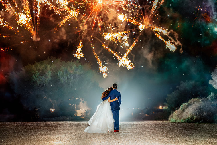 Boerne Wedding Photographer | Snap Chic Photography | Night Portrait | Snap Chic Photography | San Antonio Wedding Photographer | Wedding Fireworks | Wedding at Oak Valley Vineyard