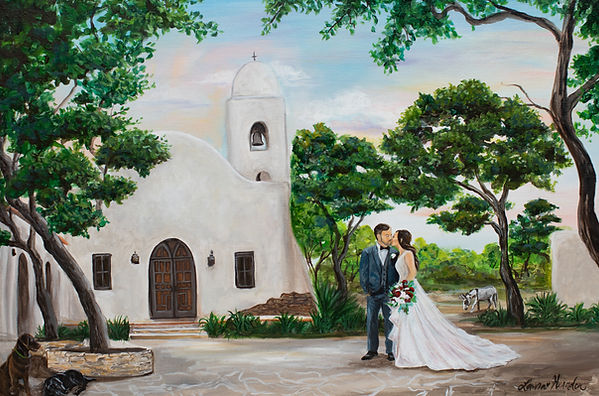 Live Wedding Painter in Texas