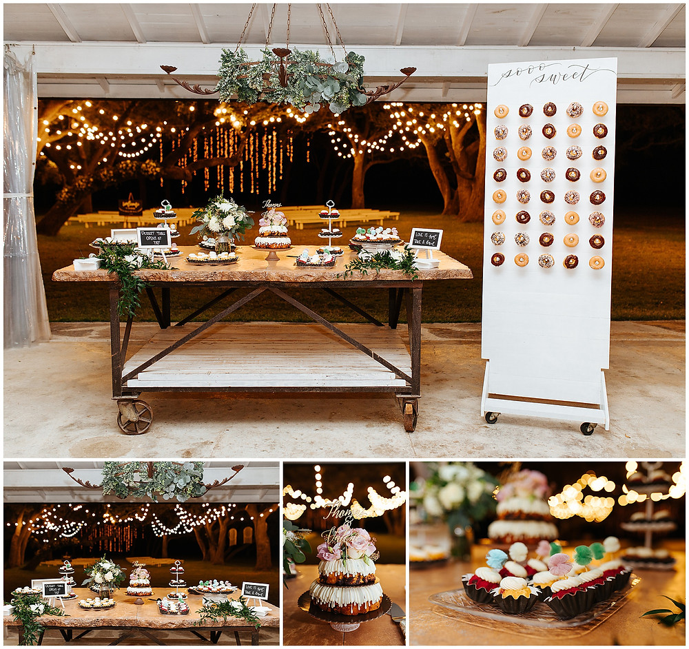 Wedding Donut Wall | Snap Chic Photography | San Antonio Wedding Photographer | The Oaks at Boerne