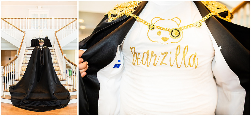 Kendall Plantation Royal Gay Wedding by Snap Chic Photography, Wedding Cape and Bearzilla Shirt