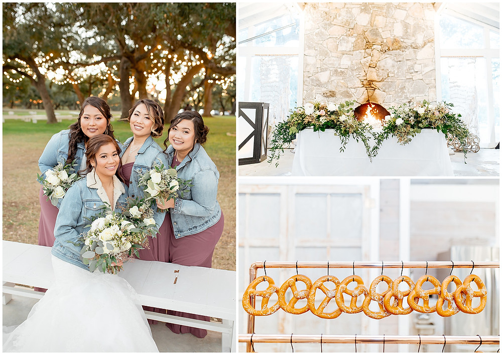 Wedding Pretzel Bar | Snap Chic Photography | The Oaks at Boerne