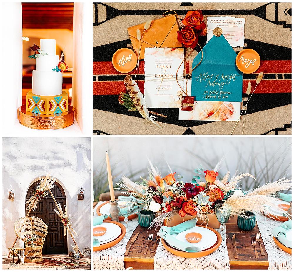 Southwestern Wedding | Hill Country Wedding | Lost Mission Wedding | Hill Country Wedding Planner | San Antonio Wedding Planner | Wedding Cake | Invitation Suite | Wedding Centerpiece | Wedding Ceremony