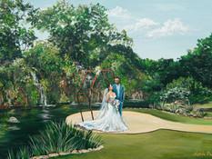 Live Wedding Painter, San Antonio Texas. Snap Chic Wedding Painting
