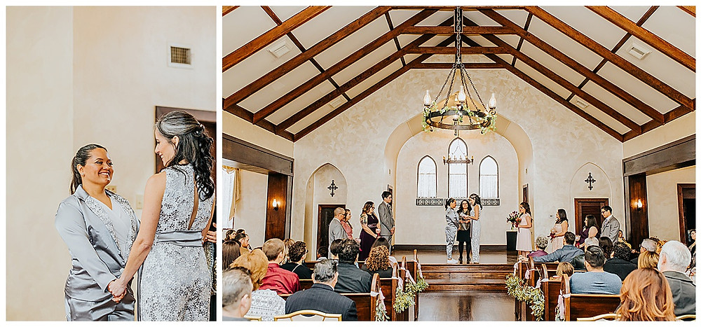 Lesbian Wedding | Boerne Wedding | Boerne Wedding Planner | Same Sex Wedding | Spinelli's Venue | Two Brides | Wedding Ceremony | Chapel Wedding