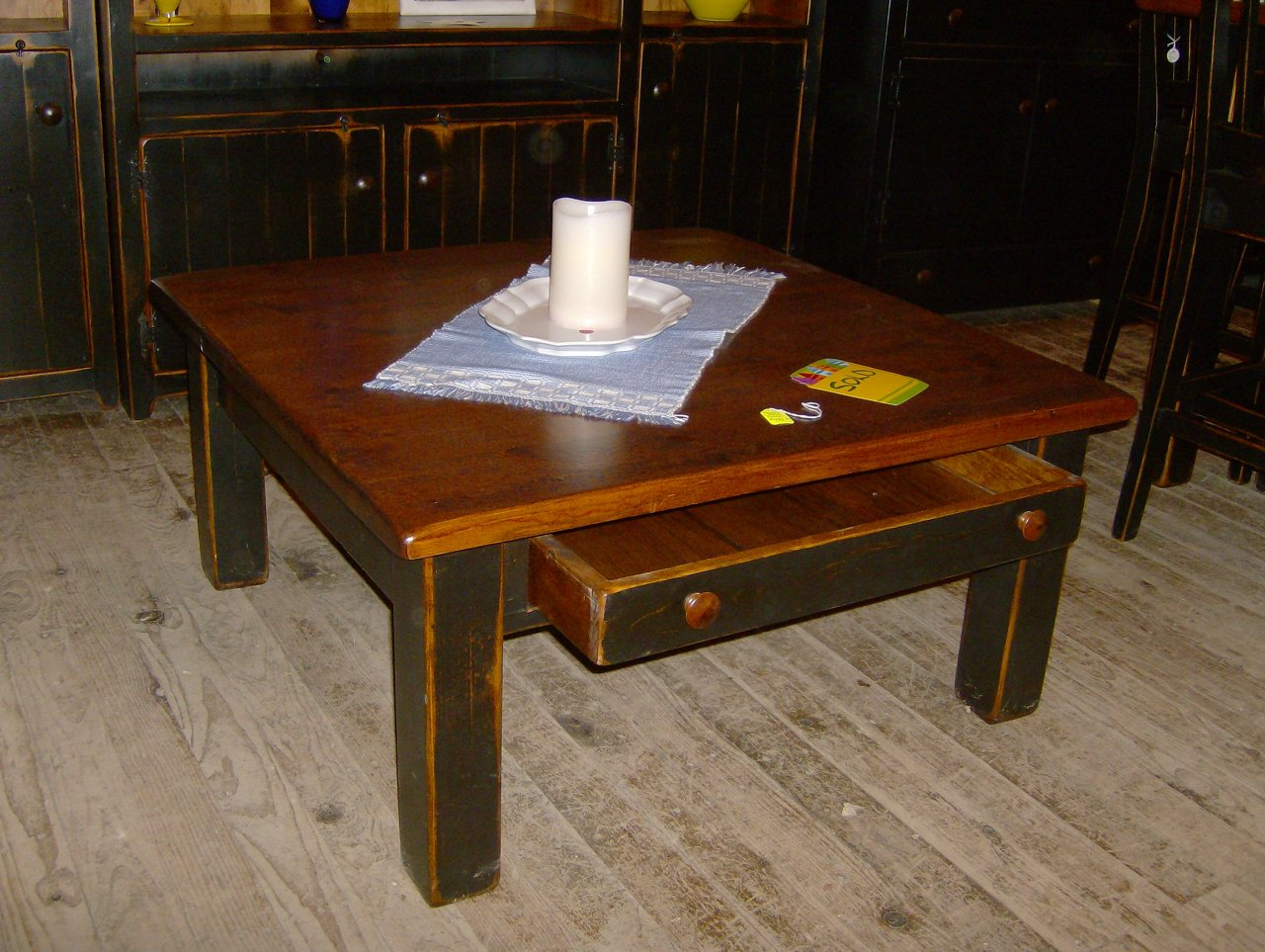 Coffee Table with Block Legs