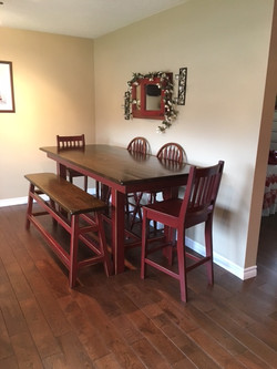 Dining Table with Chairs and Bench