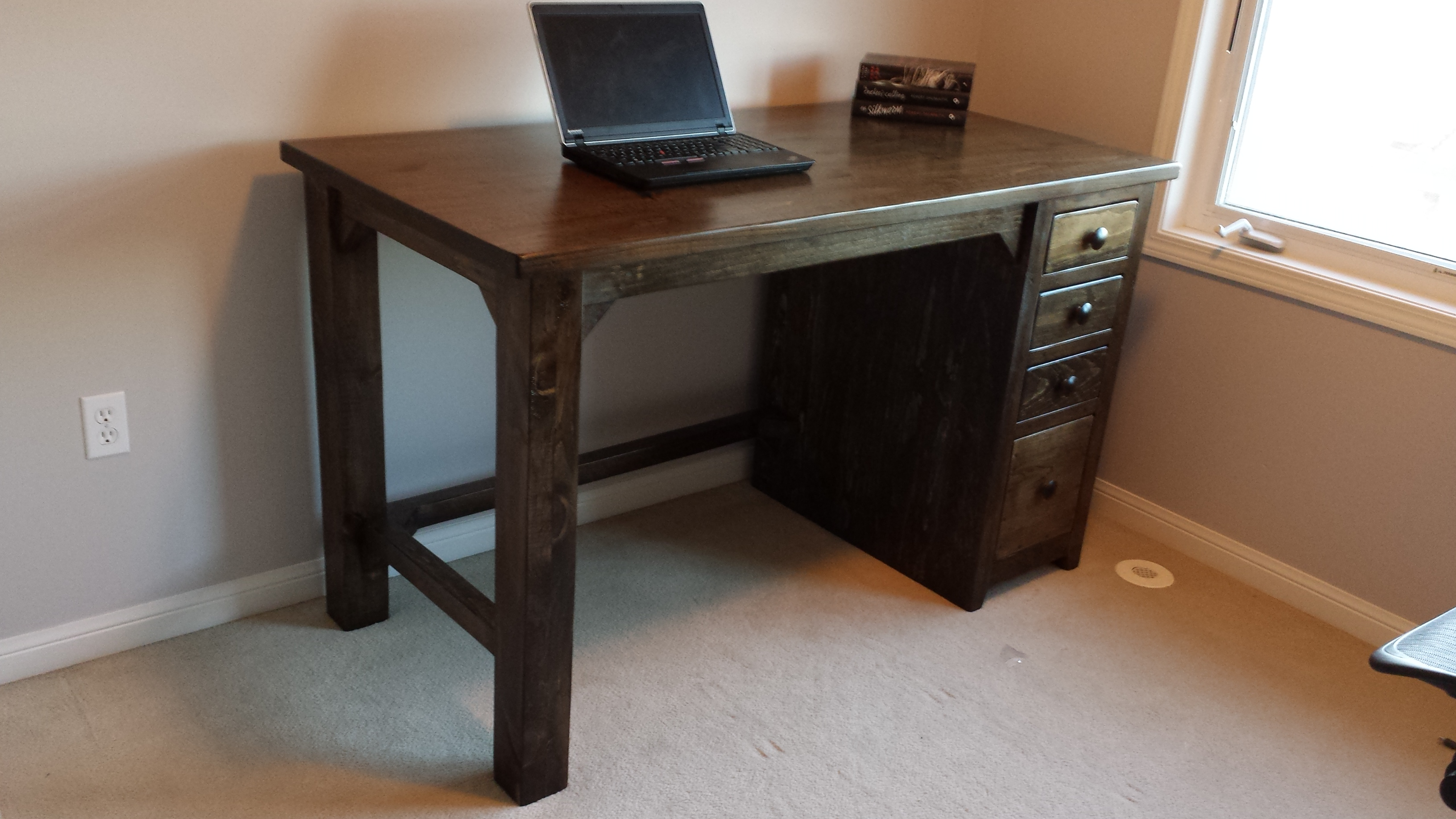 High Desk and Drawers