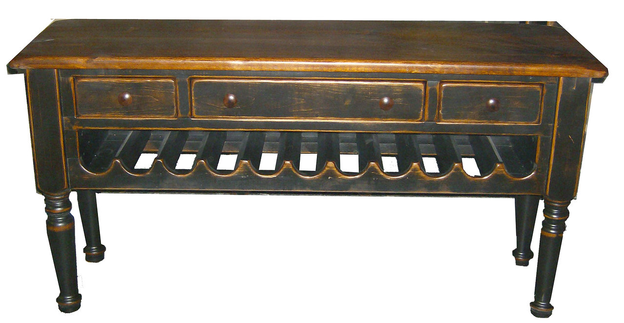 Sofa Table with Wine