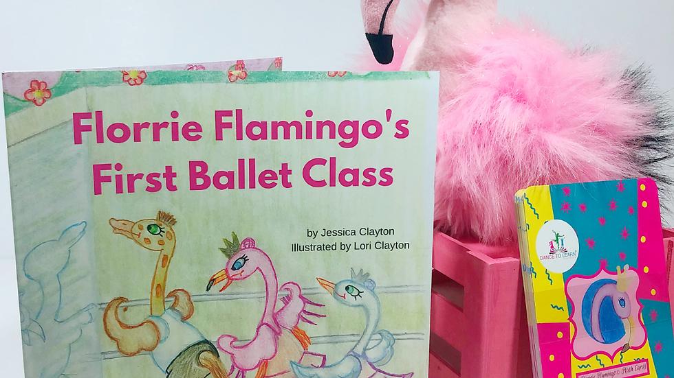 BUNDLE: Florrie Flamingo's First Ballet Class Children's Book & Flashcards