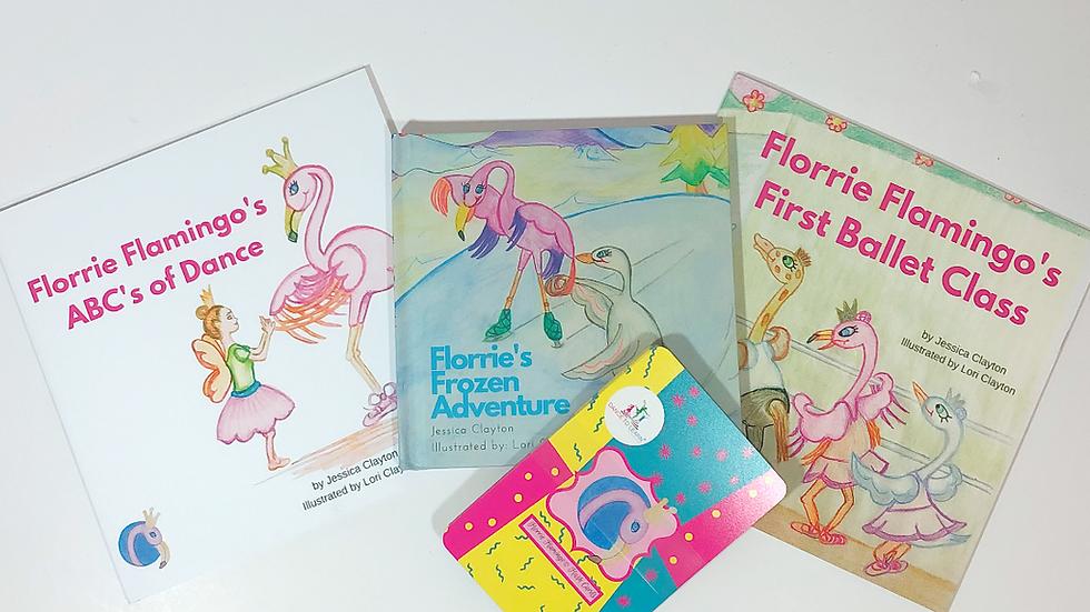 BUNDLE: Florrie Flamingo Children's Books and Ballet Flashcards
