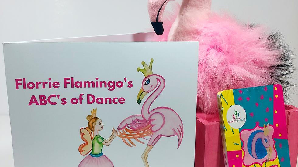 BUNDLE: Florrie Flamingo's ABC's of Dance Children's Book & Flashcards