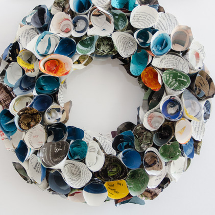 Rolled Magazine Page wreath