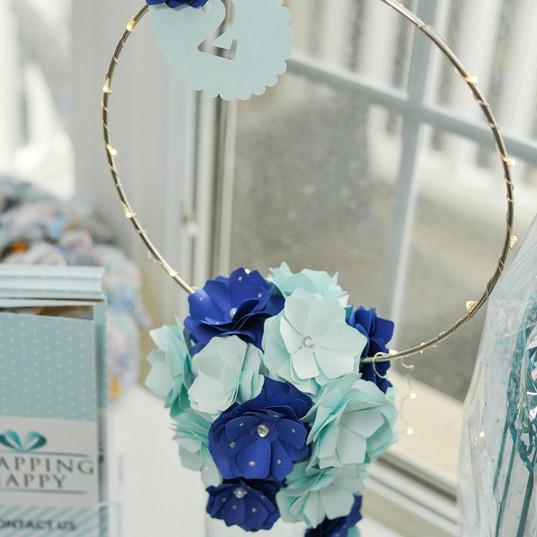 Paper flower centrepiece