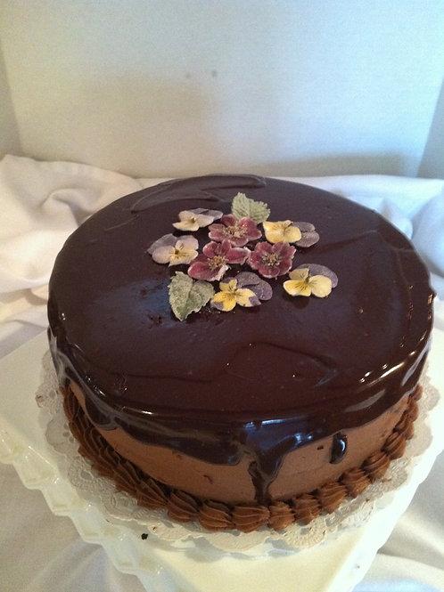 GLUTEN SENSITIVE FOURLESS CHOCOLATE CAKE