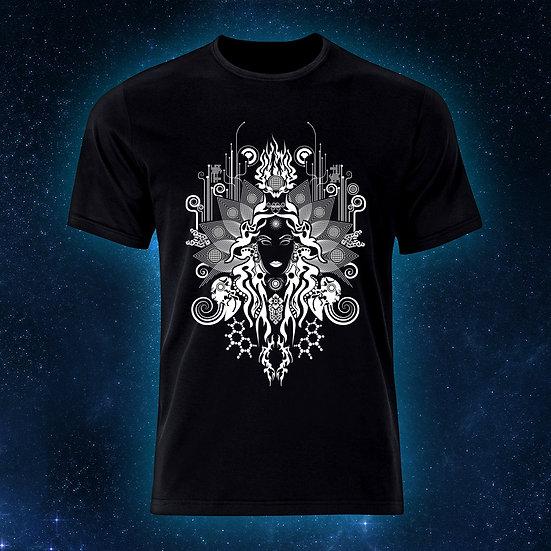 """Психоделічна футболка """"Богиня Кали"""" Флуоресцентний друк"""
