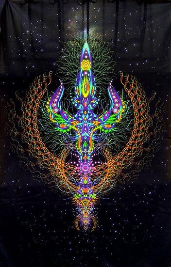 """Психоделічний фон """"Трішула"""" флуоресцентний друк"""