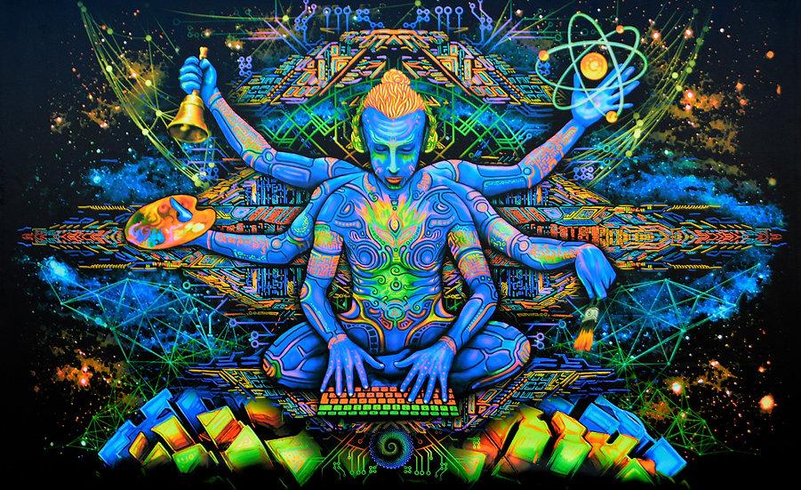 """Психоделічний фон """"Artrama"""" флуоресцентний друк"""