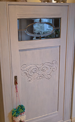 Bev's shabby chic cupboard (with paint & lime)