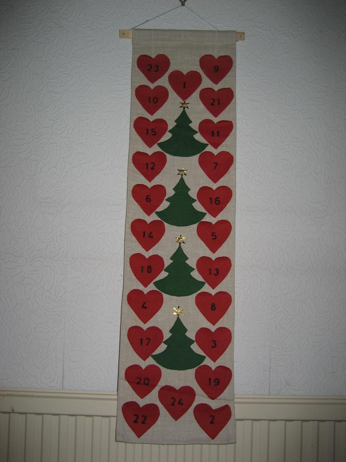 Elspeth's applique advent calendar 2