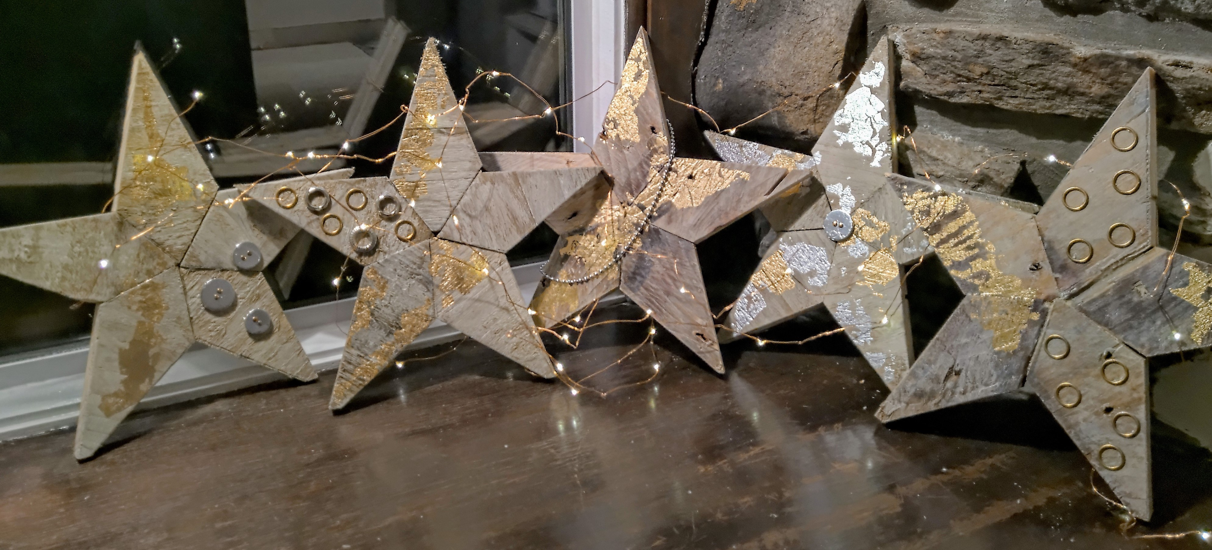 Bev- Junk Stars with hit of gold & silver