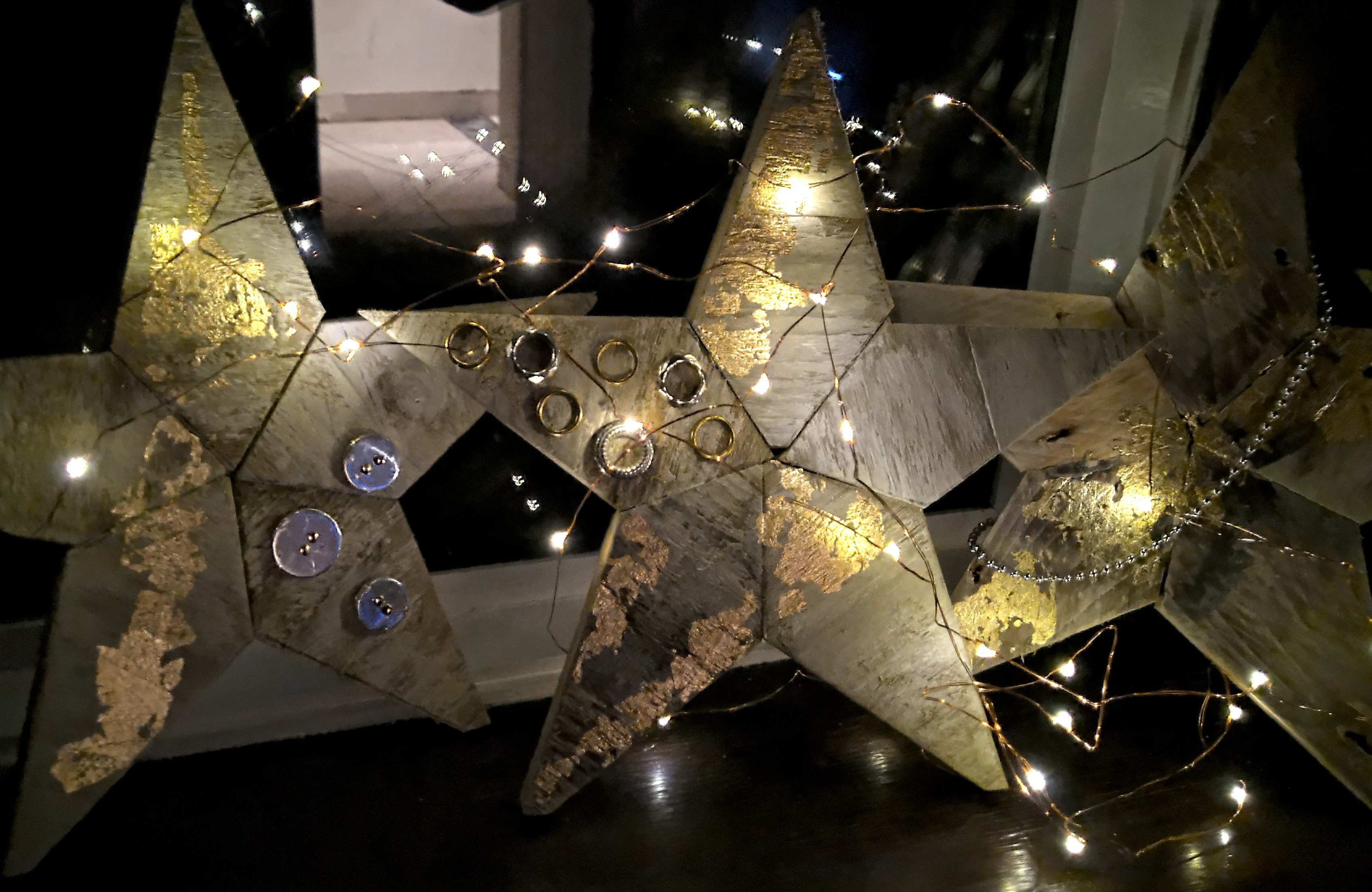 Bev's stars with fairy lights