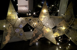 Bev's stars with fairy lights