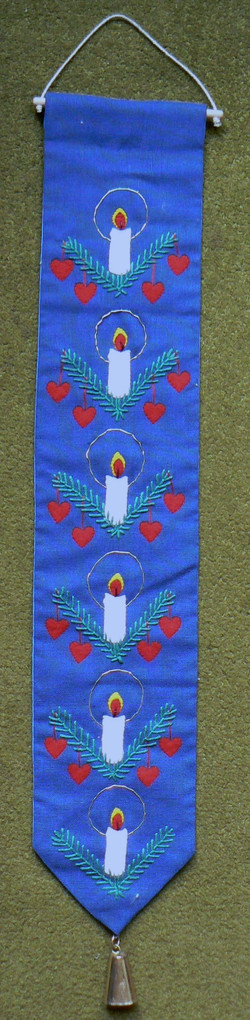 Elspeth's Christmas hanging  (embroidery)