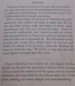 Shona's Great, Great Uncle Malcom's cocoa recipe (1886)