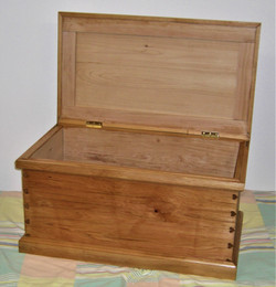 Douglas' Kist of aromatic cedar wood with heart shaped dovetails