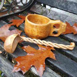 Pete's Wooden ladle and cup
