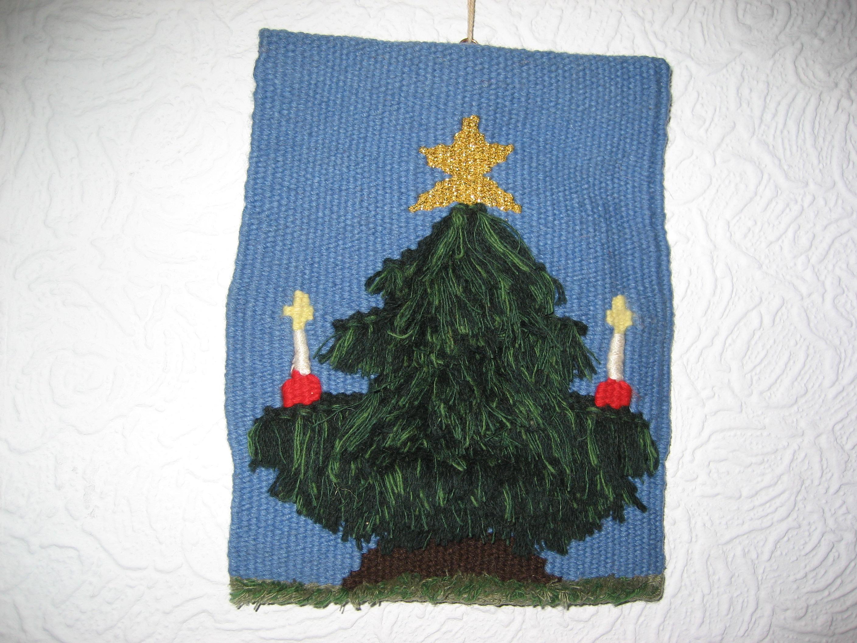 Elspeth's tapestry weaving - Christmas tree