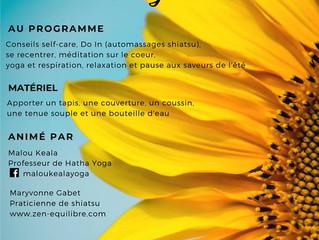 Atelier Bien-être au Lion d'Angers - Shiatsu et Yoga - le 18 mai 2019