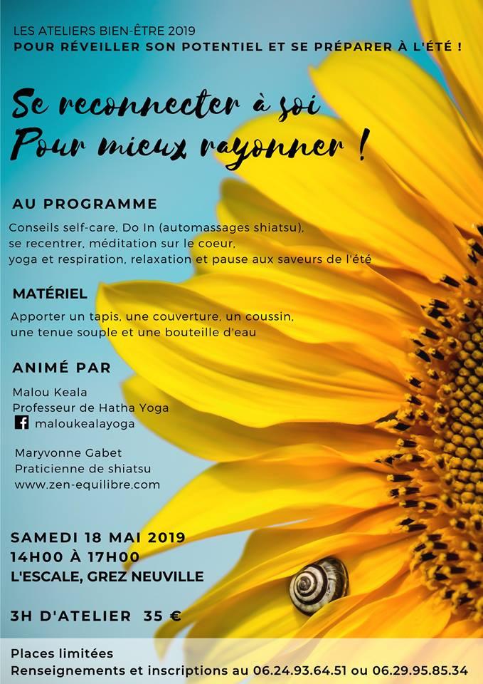 Atelier bien être shiatsu yoga Le lion d' Angers 49 Maine et Loire