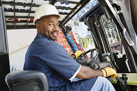 #RealMen, Man on Forklift, Black Man