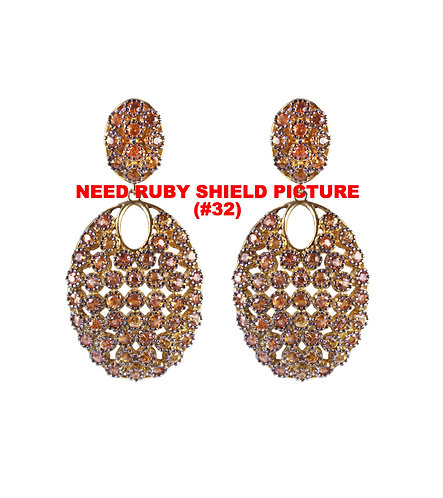 Ruby Shield Earrings